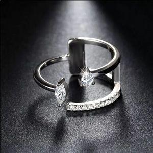 Brilliant AAA Austrian CZ Silver Ring